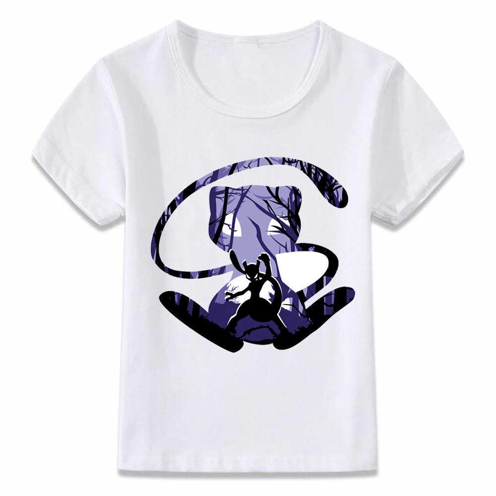 Kinderkleding T-shirt Pokemon Mewtwo Legendarische Schurk T-shirt voor Jongens en Meisjes Peuter Shirts Tee
