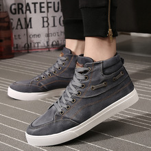 Spring Autumn Men Boots Comfortable Quality High Top Canvas Shoes Lace-Up Style Denim Breathable Fashion Casual