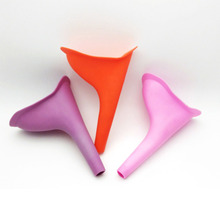 1pc Portable Silicone Women Urinal Outdoor Travel Camping Female Lady Funnel Standing Urination Device Stand Up Pee