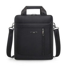 Maletín Vertical impermeable para hombre, bolsa de mensajero para ordenador, bolso de hombro de tela Oxford, bolsa de viaje para IPAD, bolso de mano para hombre