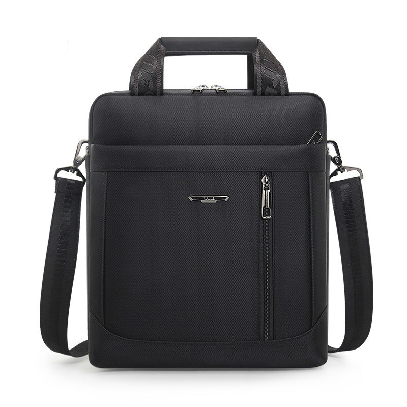 Men's Vertical Briefcase Men Waterproof Computer Messenger Bag Male Oxford Cloth Shoulder Bag Travel For IPAD Handbag Sac Homme