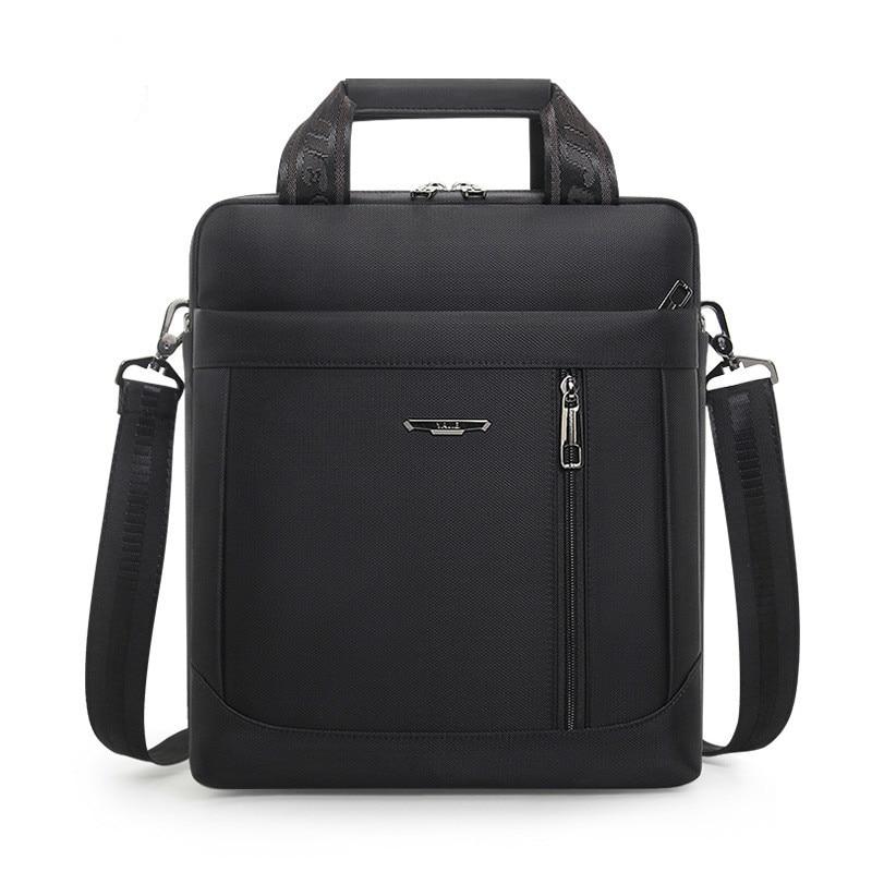 Men's Vertical Briefcase Men Waterproof Computer Messenger Bag Male Oxford Cloth Shoulder Bag Travel For IPAD Handbag Sac Homme