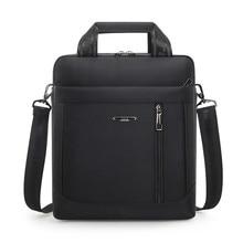 Mens Vertical Briefcase Men Waterproof Computer Messenger Bag Male Oxford Cloth Shoulder Bag Travel For IPAD Handbag Sac Homme