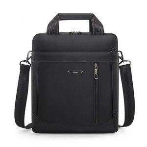 Image 1 - Mens Vertical Briefcase Men Waterproof Computer Messenger Bag Male Oxford Cloth Shoulder Bag Travel For IPAD Handbag Sac Homme