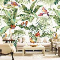 Benutzerdefinierte 3D fototapete tropical garten blume vogel persönlichkeit tapete wohnzimmer schlafzimmer tapeten wandbild papel de parede