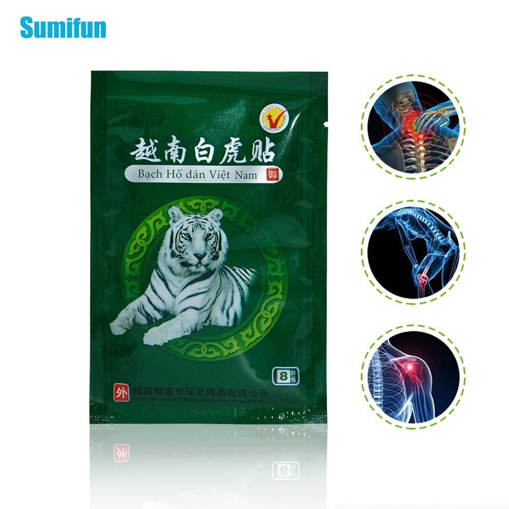 8 Pcs Vietnam Balm Muscle Rthritis Strain Massage Relaxation Capsicum Rheumatism Herbs  Plaster Joint Pain Killer C053
