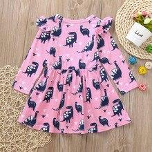 Infant Toddler Girl Dinosaur Printed Dress