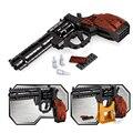 P22511 Ausini SWAT Magnum Revolver Pistol Power GUN Weapon Arms Model Assembled Toy Brick Building Blocks Weapon Boy Gifts Toys