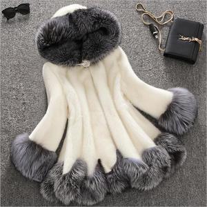 2019 Luxury Faux Fur Women's Jackets New winter Jacket Women Mix Color Fashion Mmitation Fur Artificial Coat Plus Size XXXXXL
