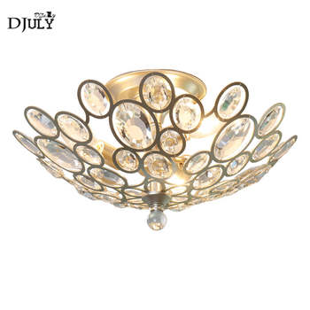 American luxury crystal Bird nest ceiling lamp for villa living room bedroom hotel modern home lighting fixtures gold lustre led