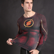 The Flash T-Shirt  Compression Tights Shirt Crossfit