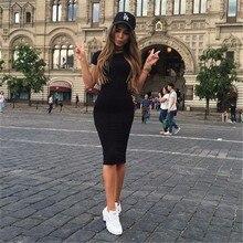 Womens Dress Vestido Short Sleeve Tunic Crew Neck Casual Pencil New Arrival Drop Shipping Slim Bodycon