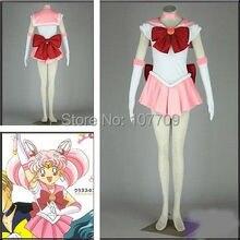 Сейлор мун Chibiusa сейлор Chibimoon косплей ну вечеринку розовый костюм матроса