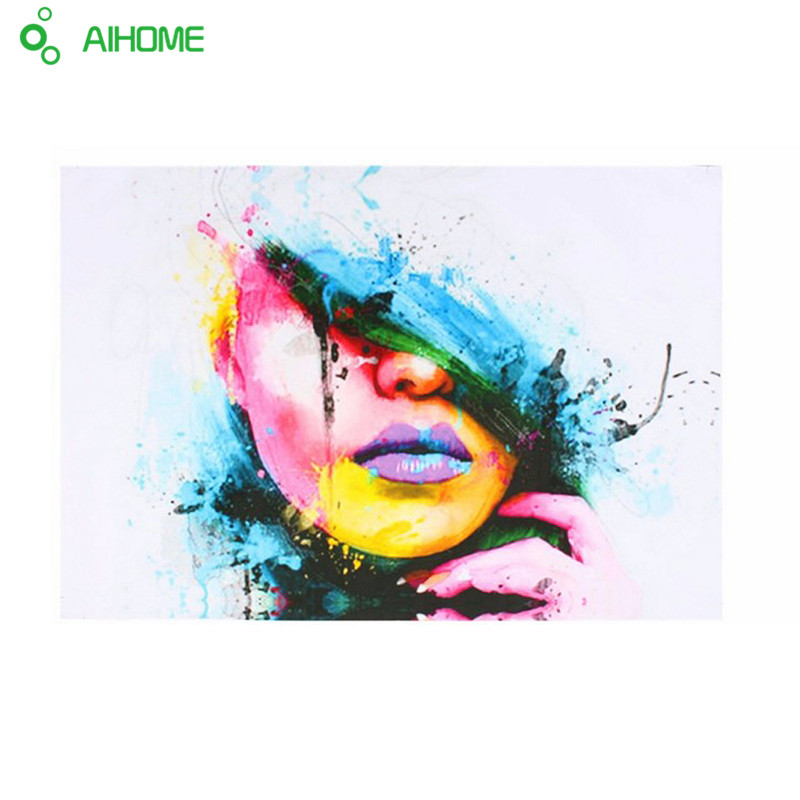 CULOP559 modern abstract lady portrait hand painted oil painting on canvas art