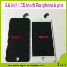 5,5 zoll Schwarz Weiß Heißer Verkauf LCD Display Digitizer Montage made in china qualität keine tote pixel für iphone 6 plus 6 plus