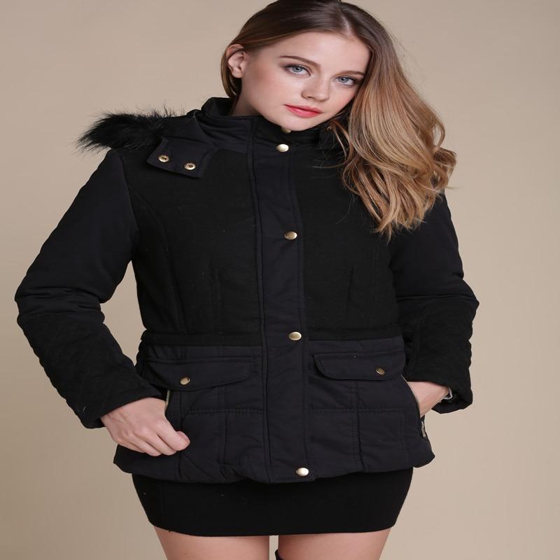цена Ms 2016 Popular International Brands Winter coat Hooded Cotton-padded Clothes Pure Color Warm Coat Of Cultivate One's Morality онлайн в 2017 году