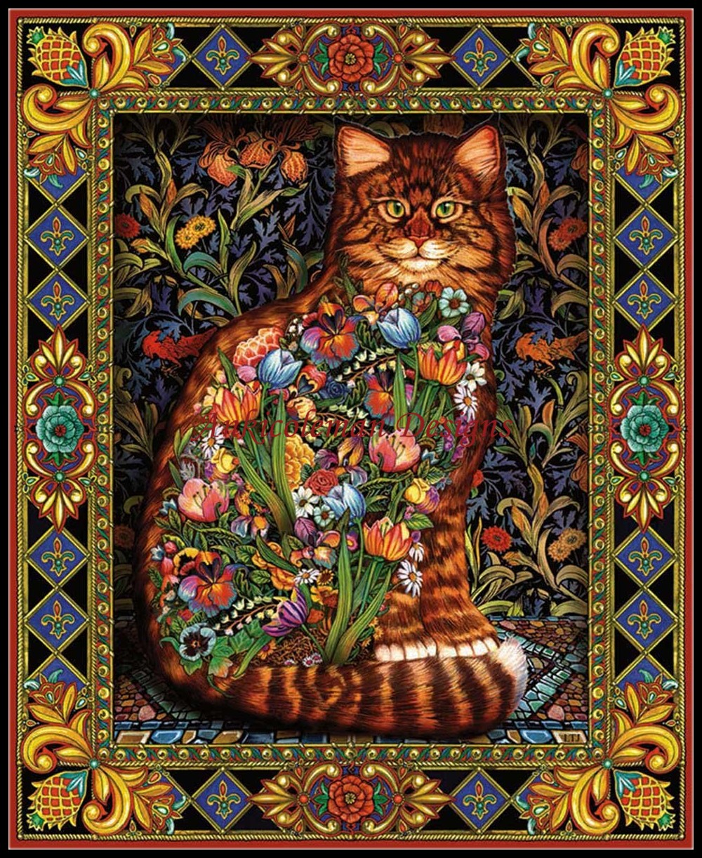 Needlework for embroidery DIY French DMC High Quality - Counted Cross Stitch Kits 14 ct Oil painting - Tapestry Cat