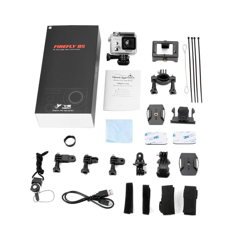 1 pz Hawkeye Firefly 8 S 4 K 30fps Sport Camera Aerial Photography Camera Recorder