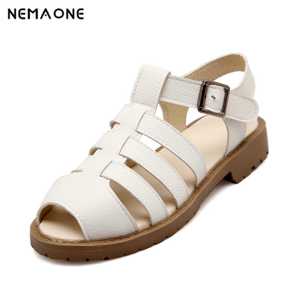 New Brand Summer Women rome style Flat Sandals Female Casual Comfortable Shoes Woman Flats Women Sandals phyanic summer style shoes woman 2017 new gladiator sandals platform flats fashion creepers women flat shoes 3 colors phy4044