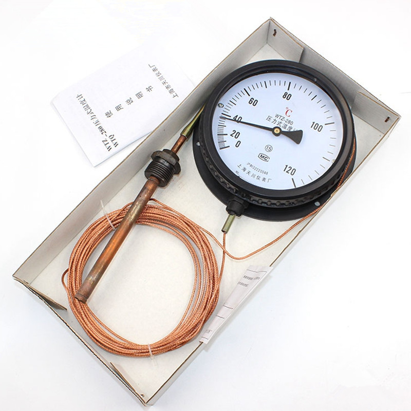 1PCS Digital Pressure Thermometer Pointer Type Thermometer 5M Cable Adjustable