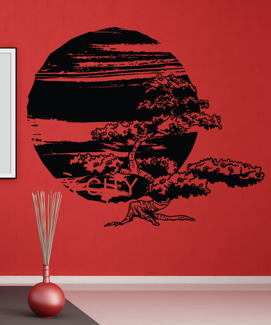 Oriental Mythology The Large Mulberry And Sun Wall Art Decal Sticker  Removable Vinyl Cut Transfer Stencil