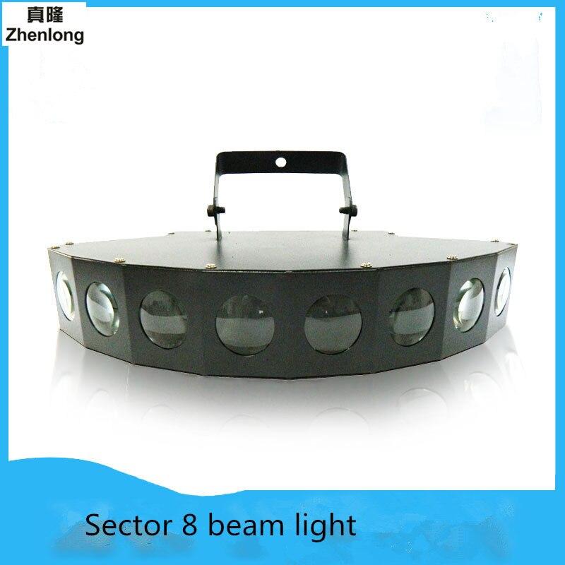 Ventilatore 8 Occhi Fascio LED Luce di Scena Modalità Laser Laser Della Discoteca Controllo del Suono Della Luce del Partito della luce DMX Lumiere Laser Wedding bar lampada
