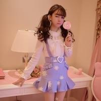 Princess sweet lolita coat Candy Rain Sweet braces skirt falbala embroidered cloth tail skirts C16CD5969