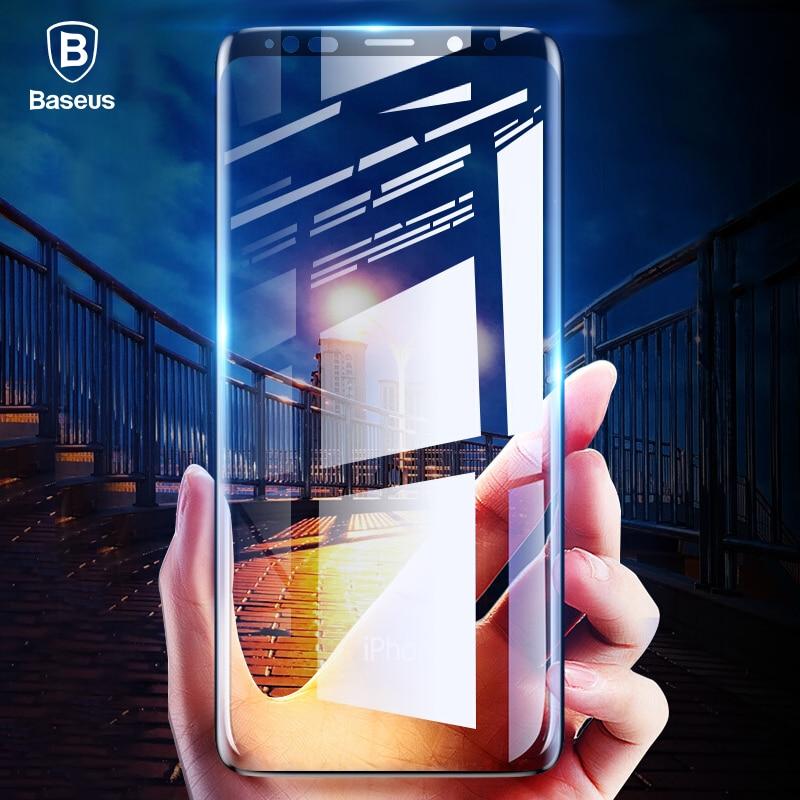Baseus 0,3mm de vidrio templado Protector de pantalla para Samsung Galaxy Nota 9 curva de templado de vidrio de película para Samsung Note9