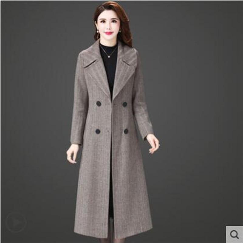 Tissu K4290 Luxe Stripe Laine Manteaux Blazer Qualité Dames Haute Long Élégantes Femmes Manteau De Porter Clud Cachemire Designers Zaqxd