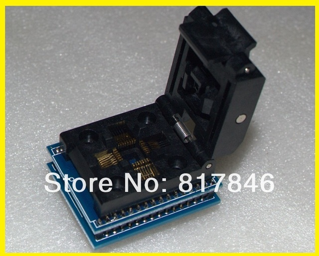 Free shipping Universal IC Adapter Socket LQFP TQFP QFP 32 to DIP32 TQFP32 QFP32 to DIP32 Programmer for Xeltek 280U/580U/3000U
