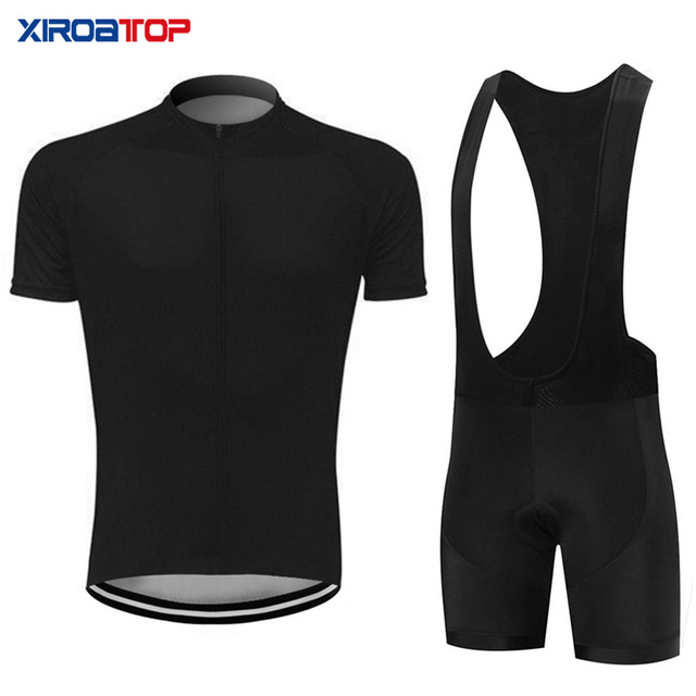 black Cycling Jersey Set Summer Bib Shorts Bike Clothes Bicycle Clothing mtb jersey Bike Clothing Cycling Sets roupa ciclismo