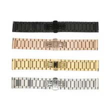 ot02 Watch Replacement Stainless Steel Solid-Links Watch Band Strap Bracelet for Casio 16/20/22mm Watchband