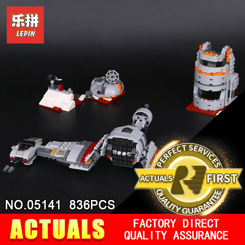 Lepin 05141 Star Plan Series 836Pcs The Defense Of Crait Set 75202 Building Blocks Bricks Educational Toys For Children As Gift black pearl building blocks kaizi ky87010 pirates of the caribbean ship self locking bricks assembling toys 1184pcs set gift