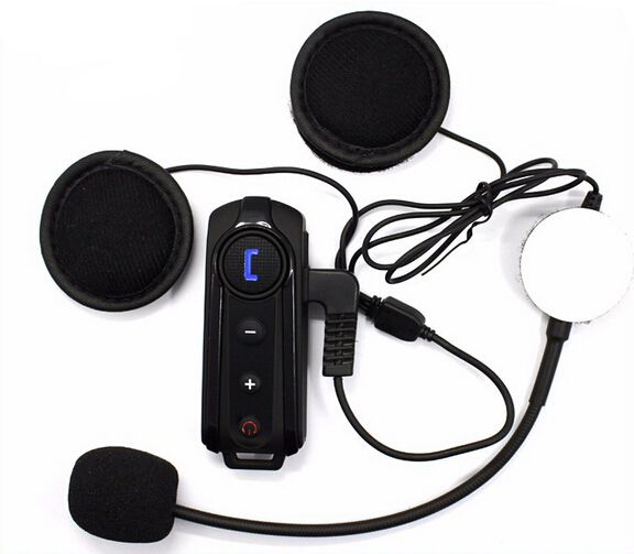 New BT S1 1000M Interphone Bluetooth Motorcycle Bike Helmet Sports Headset Intercom with FM Function