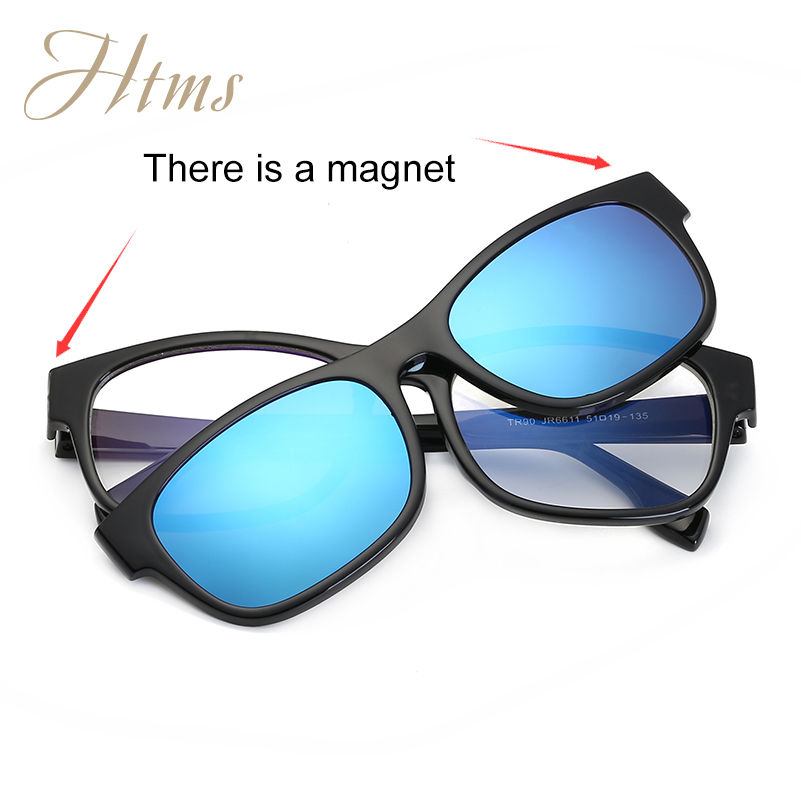 f25ed374533 Magnet Flat Polarized Sunglasses Dual use TR90 Clip Mirrored Sunglasses  glasses MenClips Custom Prescription Myopia Eyeglasses-in Sunglasses from  Apparel ...