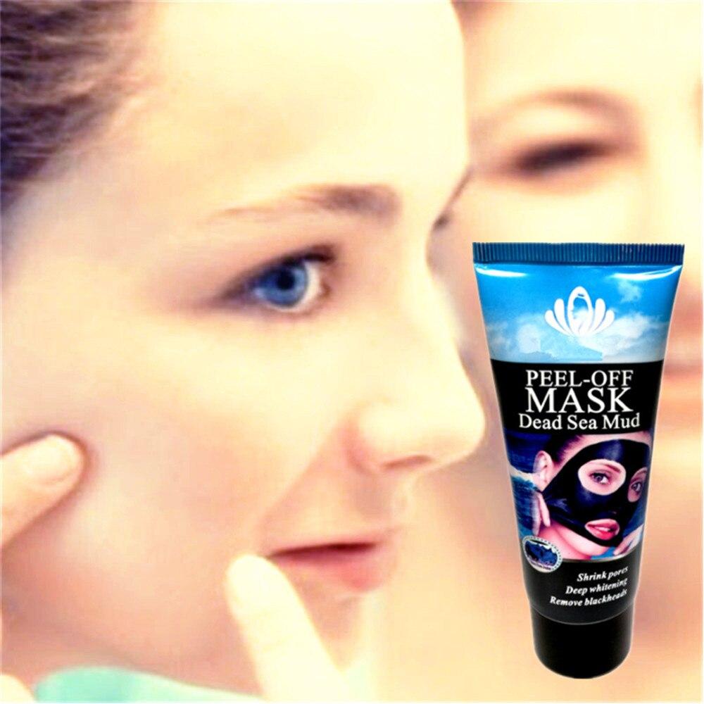 Blackhead Removal Nature Dead Sea Mud Black Mask Deep Clean Peel Off Mask Pores Shrinking Acne Treatment mee-eter verwijderaar