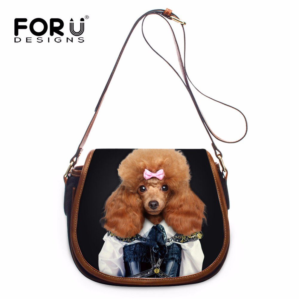 FORUDESIGNS Kawaii Dog Printed 3D Women Cross Body Shoulder Bags Casual Fashion Girls PU Leather Small Chains Messenger Bags yibuy maple diy electric guitar body neck fingerboard with tuning pegs and 2 single coil pickips suit accessories