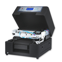 new mini flatbed solvent printer a4 for glass,metal,plastics