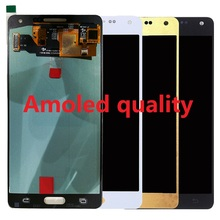 Super Amoled For Samsung Galaxy A5 A500 A500F A500FU A500M Display LCD Screen Touch Digitizer Sensor Assembly + Adhesive + Kits high quality for samsung galaxy a5 2015 a500 a500f a500fu a500m a500y a500fq lcd display touch screen digitizer assembly tools