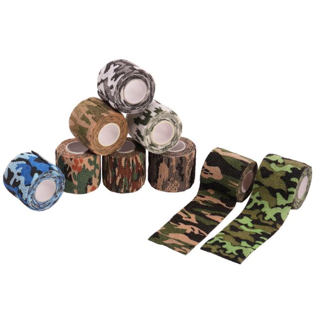 1 Roll 5*450cm Disposable Self-adhesive Flex Elastic Camouflage Bandage Tattoo Handle Grip Tube Wrap Elbow Stick Medical Tape 1