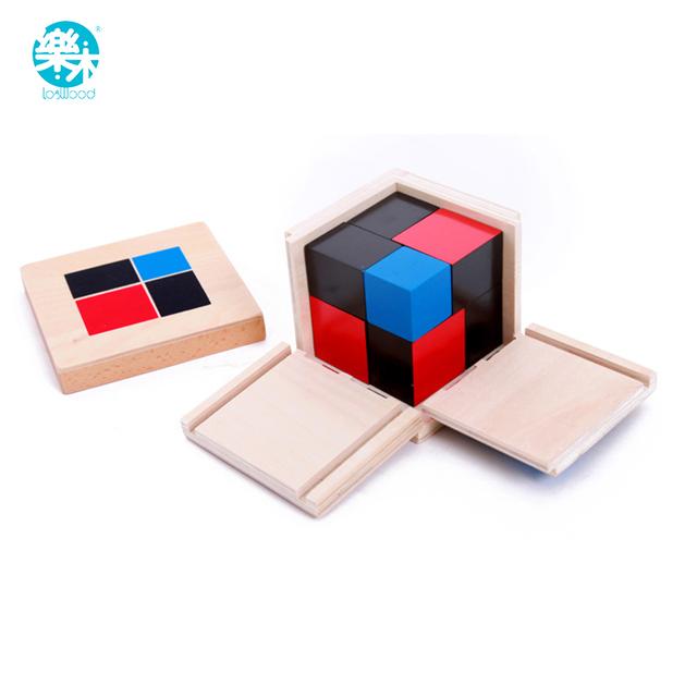 Auxiliares de Ensino Montessori Brinquedos De Madeira bloco de construção Binomial trinômio Matemática Ensino Brinquedo Criança Aprendizagem Precoce