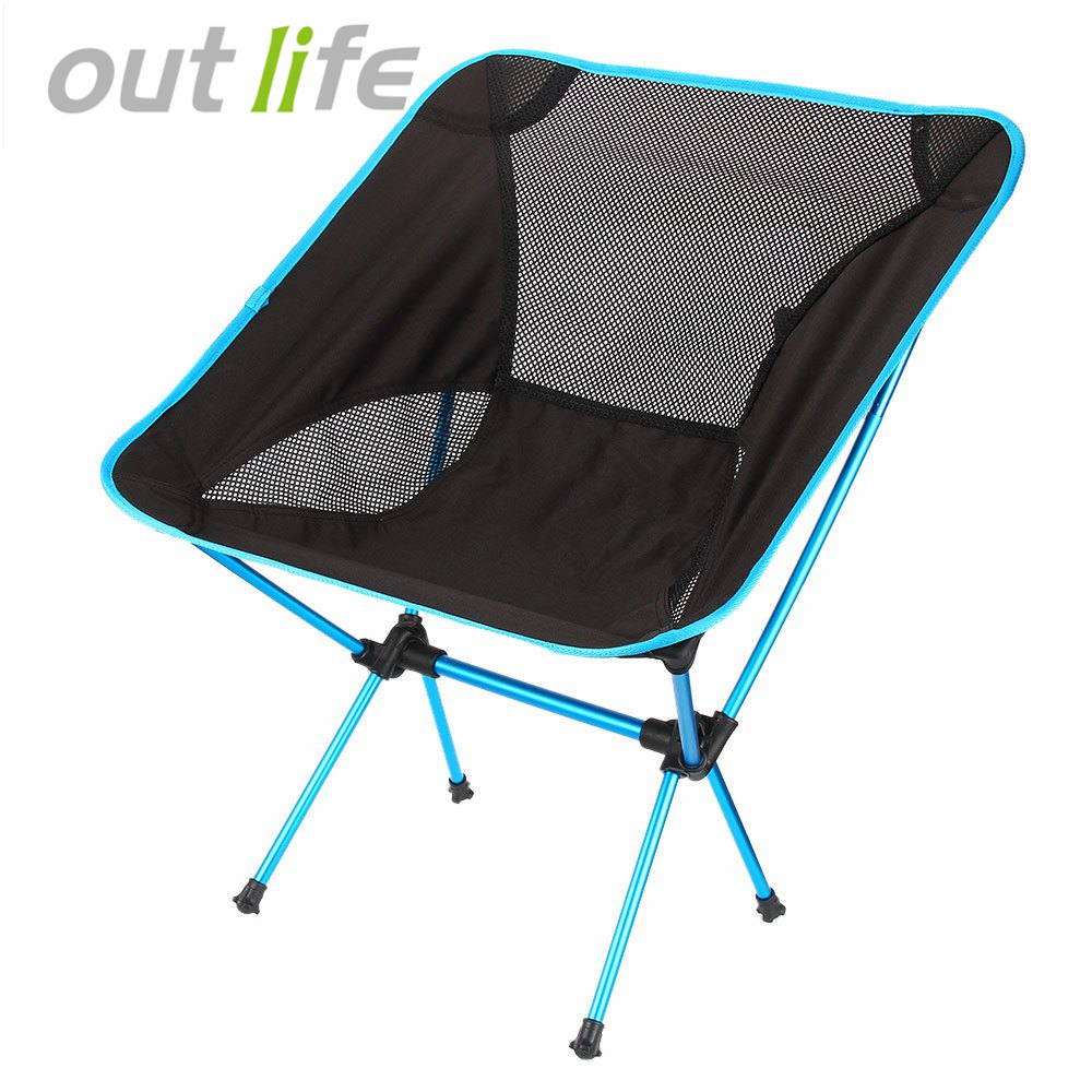 Outlife Ultra Light Folding Fishing <font><b>Chair</b></font> Seat for Outdoor Camping Leisure Picnic Beach <font><b>Chair</b></font> Other Fishing Tools