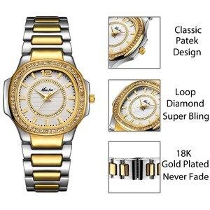 Image 3 - Dropshipping 새로운 2020 여성을위한 뜨거운 판매 손목 시계 스테인레스 스틸 골드 여성 시계 다이아몬드 손목 시계 Patek 손목 시계