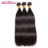 Wonder Mädchen Peruanischen Glattes Haar Menschlichen Haarbündel Natürliche Farbe Kann kaufen 4 oder 3 Bundles Nicht Remy Haarverlängerung Kann gefärbt