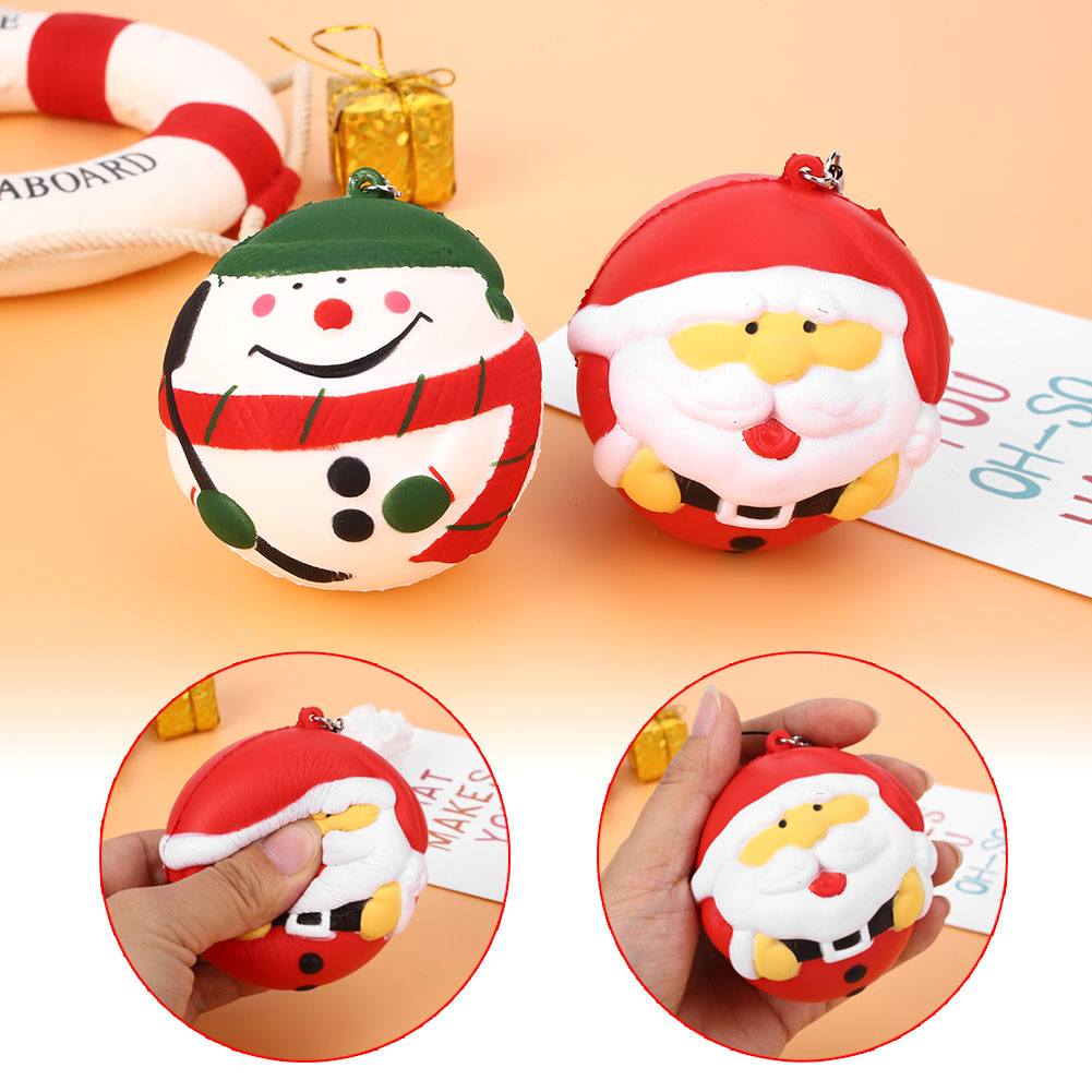 Soft Squishy Santa Claus Snowman Slow Rising Relief Stress Squeezing Funny Christmas toys