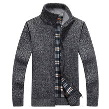 Brand Winter Sweater Men Cardigan Thick Warm Fleece Turtleneck Men Sweater Cashmere Wool Cardigan Sweater Men Sueter Hombre XXXL