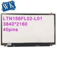 15.6 ''IPS UHD LTN156FL02-L01 4K 3840*2160 Tela LCD de Substituição PARA Lenovo Y50-70 LAPTOPS