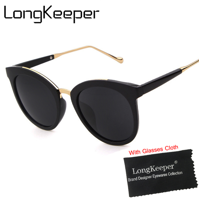 b1b80c2812 LongKeeper Sunglasses Female Models Retro Sun Glasses Round Face  Personality Polarized Men Women Sun glasses Elegant Z9841X