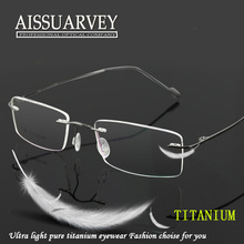 Men Glasses Frames Titanium Rimless Thin Fashion Brand Designer Eyeglasses Prescription Top Quality Eyewear Flexible Goggles