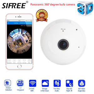 Wifi-Camera Lamp Panoramic-Bulb Cctv-Video Surveillance-Fisheye Night-Vision 360 Security